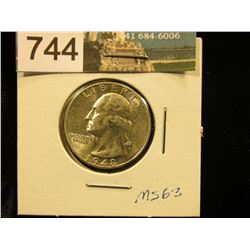1948 D Washington Quarter MS-63