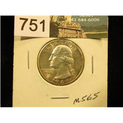 1949 D Washington Quarter MS-65