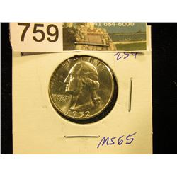 1952 D Washington Quarter MS-65