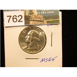 1953 S Washington Quarter MS-65