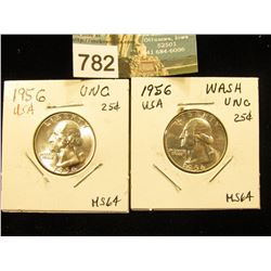 (2) 1956 P Washington Quarter MS-64