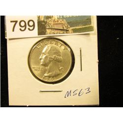 1961 D Washington Quarter MS-63