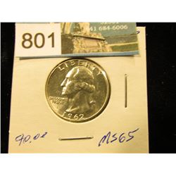 1962 P Washington Quarter MS-65