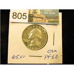 1963 P Washington Quarter PF-66