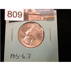 1963 D Washington Quarter MS-63