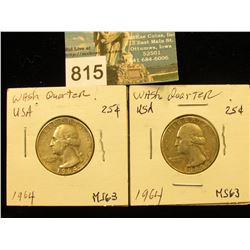 (2) 1964 P Washington Quarter MS-63