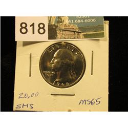 1966 P Washington Quarter MS-65