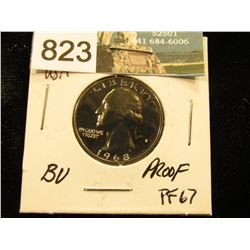1968 S Washington Quarter PF-67