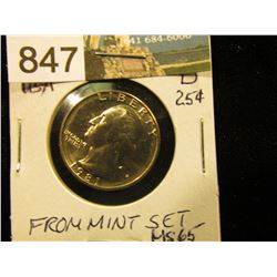 1981 D Washington Quarter MS-65