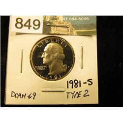 1981 S Type 2  Washington Quarter DCAM-69