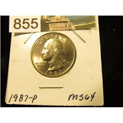 1987 P Washington Quarter MS-64