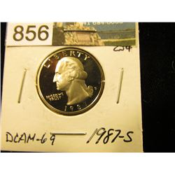 1987 S Washington Quarter DCAM-69
