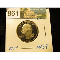 1992 S Washington Quarter PF-69