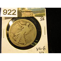 1917 D Obverse mint mark Walking Liberty Half-Dollar G-6