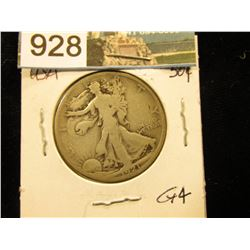 1921 S Walking Liberty Half-Dollar G-4