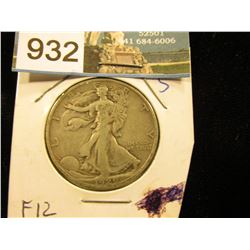1929 S Walking Liberty Half-Dollar F-12