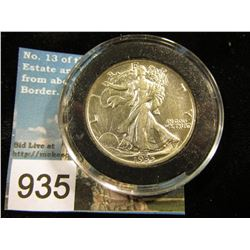 1935 P Cleaned Walking Liberty Half-Dollar AU-50