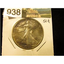 1937 S Walking Liberty Half-Dollar XF-40