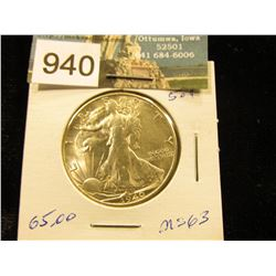 1940 S Walking Liberty Half-Dollar MS-63
