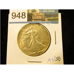 1941 D Walking Liberty Half-Dollar AU-50