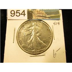 1943 D Walking Liberty Half-Dollar XF-40
