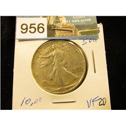 1943 S Walking Liberty Half-Dollar VF-20