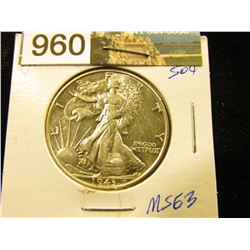 1943 P Walking Liberty Half-Dollar MS-63