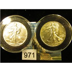 (2) 1944 P Walking Liberty Half-Dollar AU-50
