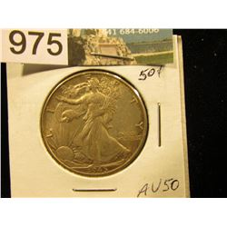 1945 P Walking Liberty Half-Dollar AU-50