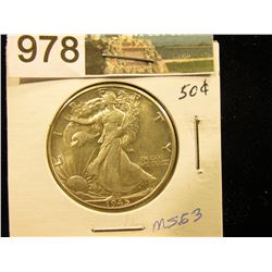 1945 D Walking Liberty Half-Dollar MS-63