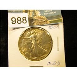 1946 P Walking Liberty Half-Dollar MS-63