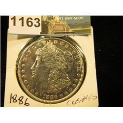 1886 P Morgan Silver Dollar Cleaned AU-50