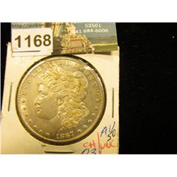 1887 S Morgan Silver Dollar AU-50