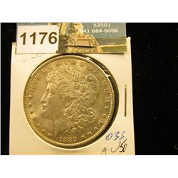 1889 P Morgan Silver Dollar AU-50