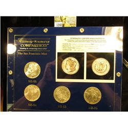 Set of (4) 1881 S NCI Certified MS 60-$50.00 63-$70.00 64-$90.00 65-$185.00; In Capital Holder & Box