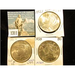 (3) 1923 P U.S. Peace Silver Dollar MS-63