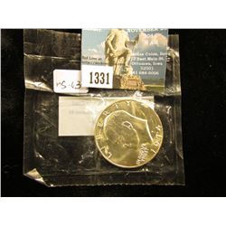 1974 S Eisenhower Dollar Silver clad In Cellophane package With No Blue Chip MS-65