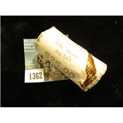 2007 D John Adams Presidential Dollar 25 Coins @ $2.00 ea; Uncirculated Roll    MS-63