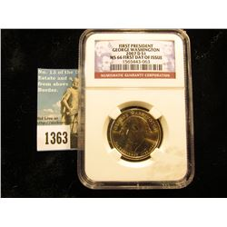 2007 D George Washington Presidential Dollar First Day of Issue NGC MS-66