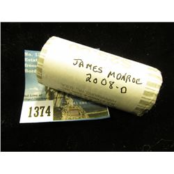 2008 D James Monroe Presidential Dollars 25 Coins @ $2.00 ea; Uncirculated Roll    MS-63