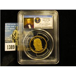 2009 S James Knox Polk Presidential Dollar PCGS PR69 DCAM