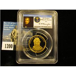 2009 S William Harrison Presidential Dollar  PCGS PR69 DCAM