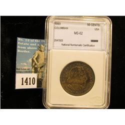 1893 Columbian Exposition Half-Dollar Slabbed NNC MS-63