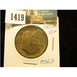 1926 P Sesquicentennial of American Independence Half-Dollar Superbly toned MS-63