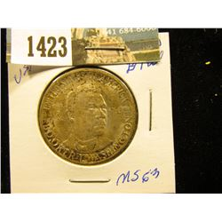 1946 D Booker T. Washington Single Half-Dollar Superbly toned MS-63