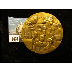 1886-1986 100th Anniversary heavy Bronze Centennial Medal for Coca-Cola. Issued only to distributors