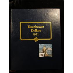 1971-78 Complete Set of Eisenhower Dollars in a Whitman Coin Album. Excellent condition.