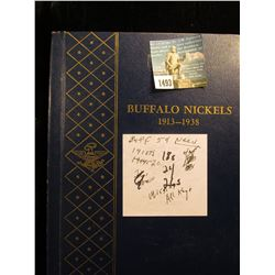 Partial Set of Buffalo Nickels in a blue Whitman album. Missing only 13 pieces.