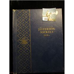 Partial Set of Jefferson Nickels in a blue Whitman album. All AU to Uncirculated.