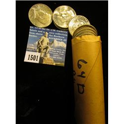 1964 D Original BU roll of (40) 90% Silver Kennedy Half-Dollars. In a plastic tube. $20 face value.